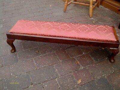 antique long footstool