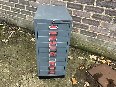 Small Bisley Multi Drawer Cabinet. 10 Drawer. No Key. No Reserve Auction