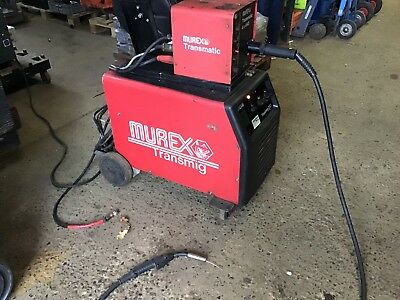 Transmig 253 Mig Welder With Transmatic 4X4 Hd Top Unit. Tested Prior To Removal