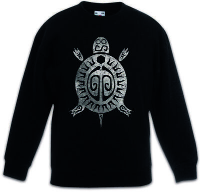 AZTEC TURTLE Kids Boys Girls Pullover Indians Sign Culture Mayans Religion