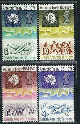 Br.ANTARCTIC Terr. GB Sc39~42 Set, 1971 E2R 100th Anniv. of the treaty. MNH C$54
