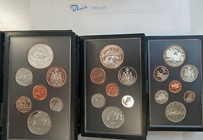 1979 1980 1981 3 SET LOT ROYAL CANADIAN MINT SETS UNCIRCULATED all Boxed w/ COA