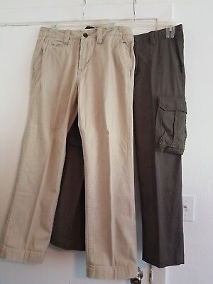 Lot of 2 Pairs of Red Camel Cargo Khaki Pants in Men's size (Read Description)