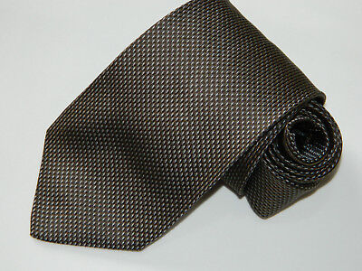 Men's Hugo Boss Brown  Silk Neck tie made in Italy