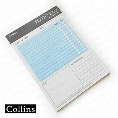Collins Essential A5 Unique Layout To Do Pad (Pack of 60 Sheets)