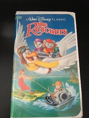 The Rescuers (VHS, 1992, Clamshell) A Walt Disney Classic Black Diamond