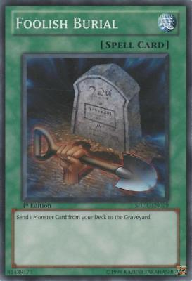 YuGiOh Foolish Burial - SDDL-EN029 - Common - 1st Edition Moderately Played