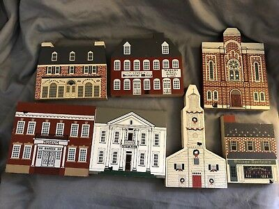 Lot Of 16 Cats Meow Decorative Wooden Silhouettes