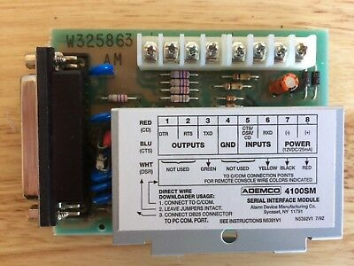 Ademco 4100SM Serial Interface Module