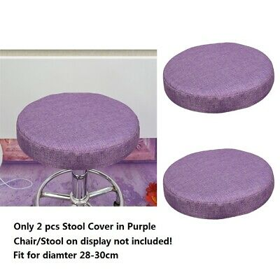 2x Bar Stool Cover linen round protector sleeve kitchen / snack / pub / Cafe