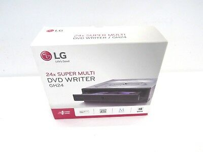 LG GH24NSB0 24x DVD±RW DL SATA Internal Optical Drive w/M-Disc Support - Black