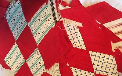 Vtg 1930's quilt blocks.  All cotton.  All hand sewn.  Ready for quilt making