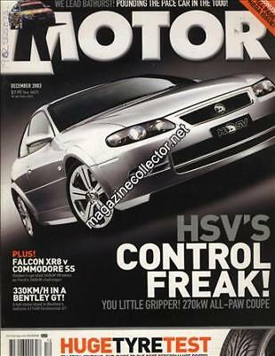 Ford BA Falcon XR8 v Holden VY Commodore SS in Motor magazine Dec 2003