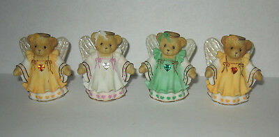 Lot of 4 Cherished Teddies Gracious Guardians Angel Figurines