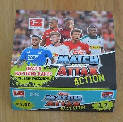 Topps Match Attax Action 18/19 1x Display 20 Booster 220 Karten 2018/2019 OVP