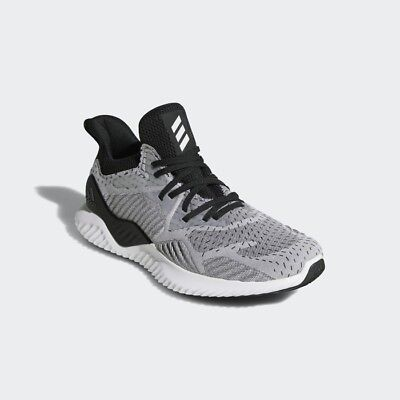 b1383b61f Adidas Men s AlphaBounce Beyond Knit Running Shoe Size 11.5 White  Core  Black