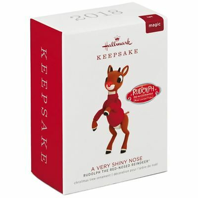Hallmark 2018 Rudolph the Red-Nosed Reindeer A Very Shiny Nose Ornament w/Light
