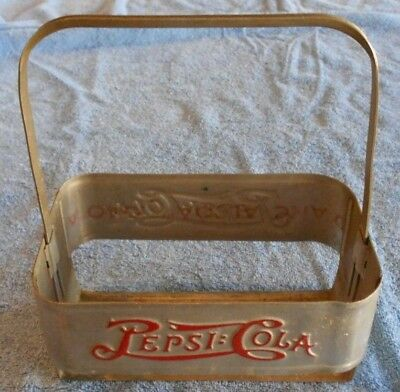 Vintage 1940s Pepsi-Cola Double Dot Metal 6 Pack Carrier