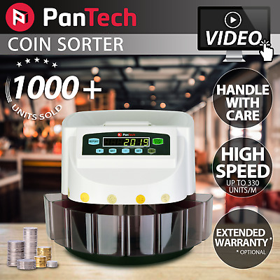 PanTech White Australian Coin Sorter Automatic Electronic Counter Machine PLS