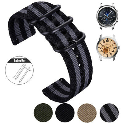 20mm 22mm Quick Release Pin Premium Nylon Fabric Sport Watch Band Wrist Strap