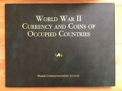 World War II Currency and Coins of Occupied Countries Set in Display Folder RARE