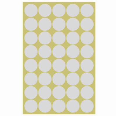 1×25mm Paper Labels Dot Stickers Round Sticky Adhesive Spot Circles  Coloured