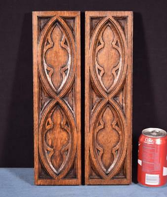 *Gothic Carved Architectural Panels/Trim in Solid Oak Wood Salvage