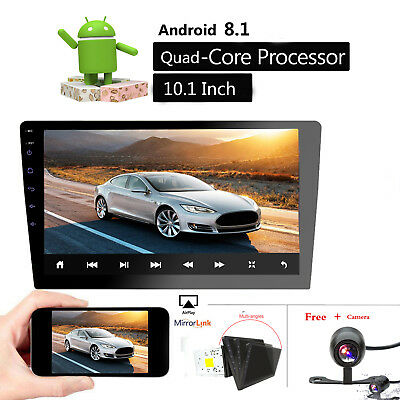 """Android 8.1 10.1""""Double 2DIN Car GPS Navigation Stereo Radio MP5 Player USB CAM"""