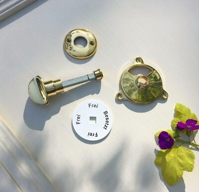 Door Fittings Wc-Drehverschluss Polished Brass Free + Covered like Antique