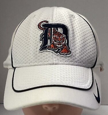 newest 65f3b a0cb9 Detroit Tigers Baseball Cap Hat White White One Size Nike Official MLB  Preowned