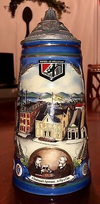 """1994 House of Heileman 10 1/2"""" Beer Stein 16th edition #0740, Rough Condition"""