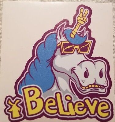 "RARE Dutch Bros Coffee Unicorn ""Believe"" Peace Sticker - New FREE USPS SHIP"