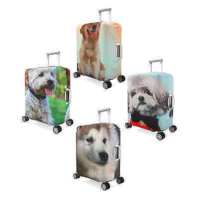 "Elastic Dog Design Luggage Suitcase Dust-proof Cover Protector Size 20"" - 28''"