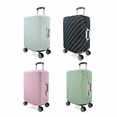 "Elastic Stripe Design Luggage Suitcase Cloth Cover Protector Size 20"" to 28''"