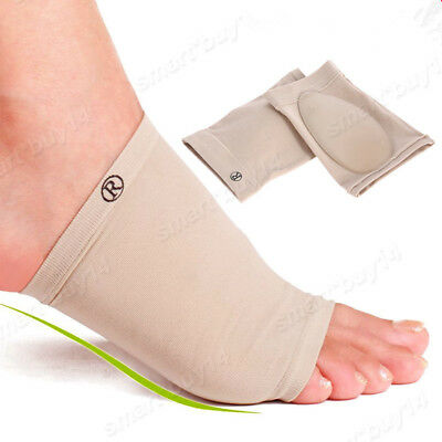 GEL Plantar Fasciitis Foot Heel Arch Support Sleeve Pain Relief Insole Orthotics