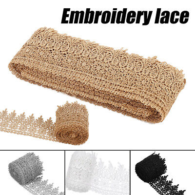 15Yards Cotton Ribbon Lace Apparel Sewing Trimming Vintage Embroidered Lace CA