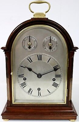 English Musical Antique Bracket Clock Rare Westminster Chime on 5 Coiled Gongs