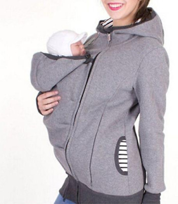 Maternity Removable Kangaroo Hoodie- XL