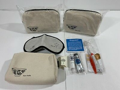 New Lot of 3 - Hong Kong Airlines First/Business Class Amenity Kit w/ L'Occitane