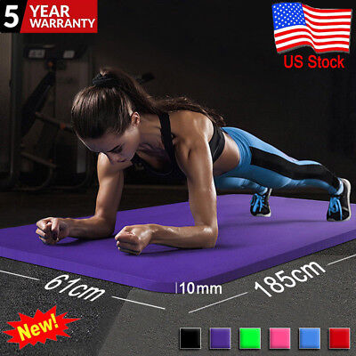 6mm Yoga Mat Thick Gym Exercise Fitness Mat Non Slip Pilates Workout 61x173cm