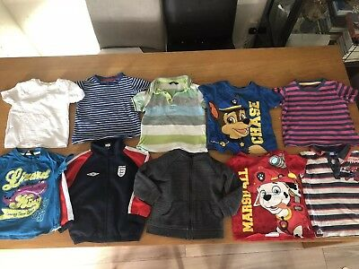 Boys T-shirt And Jumper Clothes Bundle, Age 18-24months,Paw Patrol, Spider-Man++