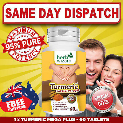 Organic TURMERIC CURCUMIN Pure Mega Plus 95% POWERFUL ANTIOXIDANT AU FAST SHIP!