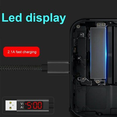 Voltage Current LED Display Type C/ Micro USB/iphone Data Sync Charger Cable  EV