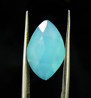 2.55 Ct Natural Beautiful Faceted Blue Chalcedony Loose Gemstone - H 3715