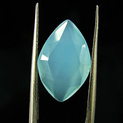 2.85 Ct Natural Beautiful Faceted Blue Chalcedony Loose Gemstone - H 3773