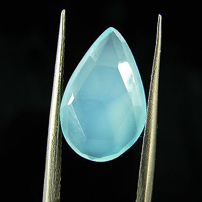 2.90 Ct Natural Beautiful Faceted Blue Chalcedony Loose Gemstone - H 3727