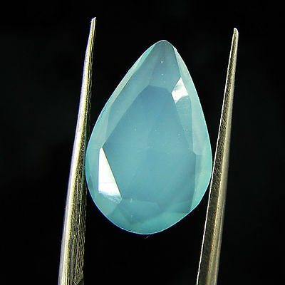 2.80 Ct Natural Beautiful Faceted Blue Chalcedony Loose Gemstone - H 3733