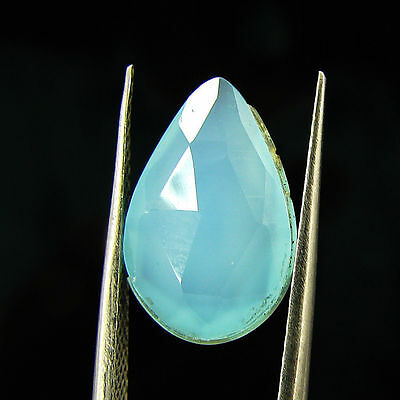 2.75 Ct Natural Beautiful Faceted Blue Chalcedony Loose Gemstone - H 3758