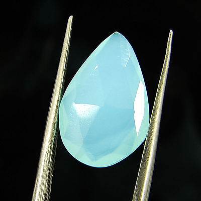 2.85 Ct Natural Beautiful Faceted Blue Chalcedony Loose Gemstone - H 3769