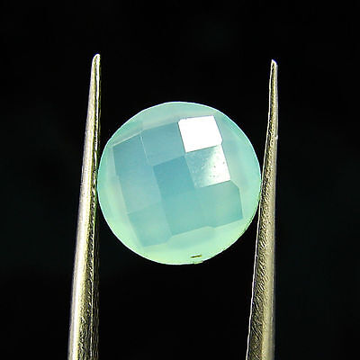1.55 Ct Natural Beautiful Faceted Blue Chalcedony Loose Gemstone - H 3789
